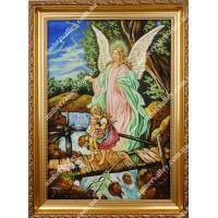 Ангел Хранитель с детьми на мосту