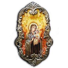 Икона Неувядаемый цвет в кованой рамке