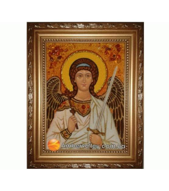 Икона Ангел Хранитель 3 из янтаря