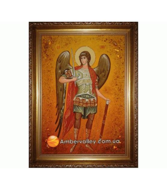 Архангел Михаил Икона из янтаря