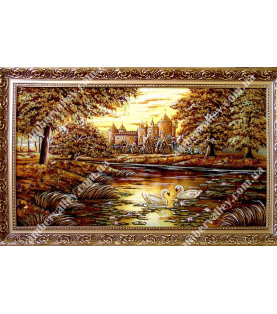 Картина Замок. Лебеди (16)