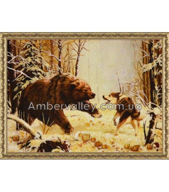 Борьба волка и медведя