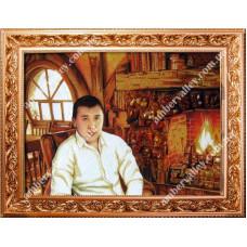 Портрет из янтаря по фото