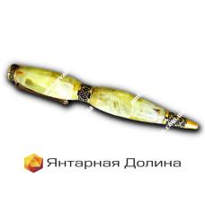 Ручка из янтаря P001